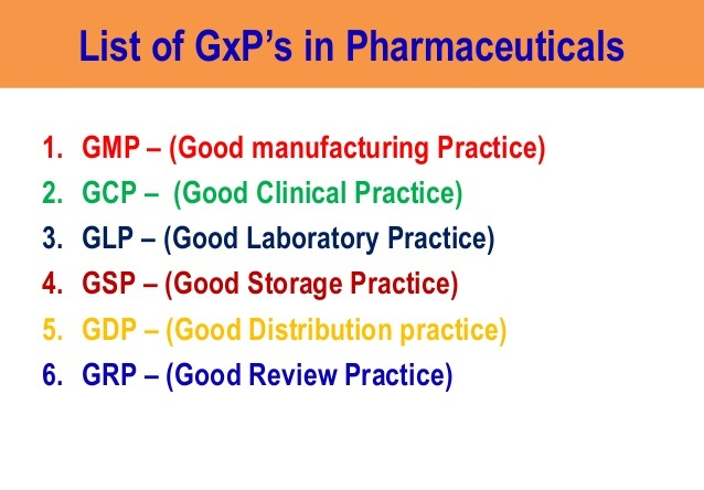 Good Practice (GxP) in the Pharmaceutical Industry