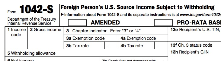 About Form 1042-S, Foreign Person's U.S. Source Income Subject to Withholding