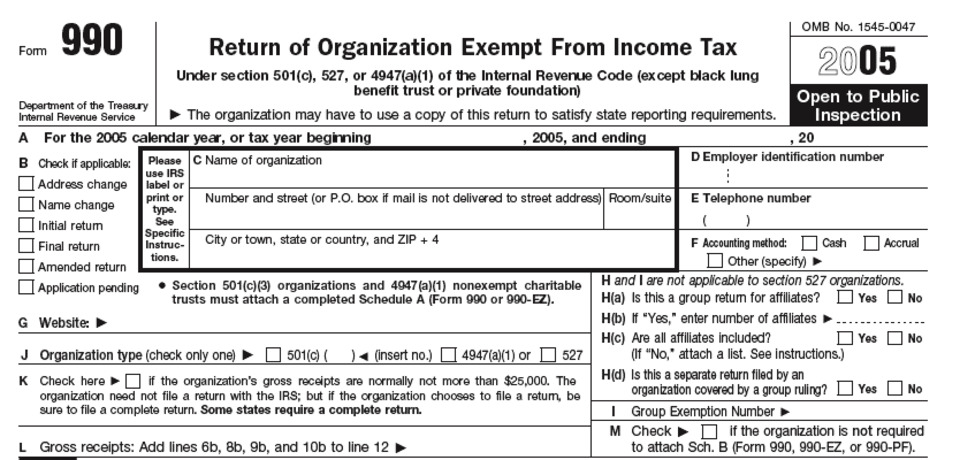 About IRS Form 990 - Definition, Meaning and Purpose
