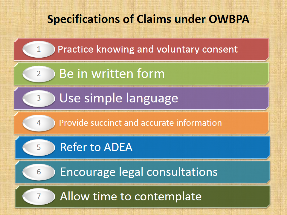 Older Workers Benefit Protection Act (OWBPA)