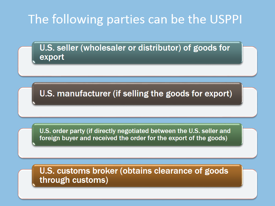 Determining and Understanding Responsibilities of the U.S. Principal Party in Interest (USPPI)